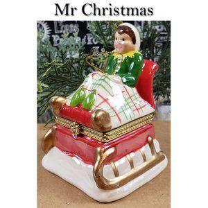 Mr Christmas 2014 Elf on Santa's Sleigh Musical